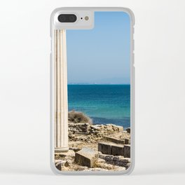 ruined temple in Sicily Clear iPhone Case