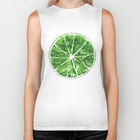lime Biker Tanks featuring Lime by Kcin
