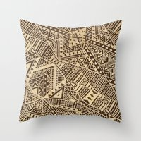 tribal Throw Pillows featuring Tribal  by Terry Fan