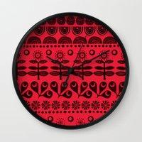 blanket Wall Clocks featuring Gran's blanket by Farnell