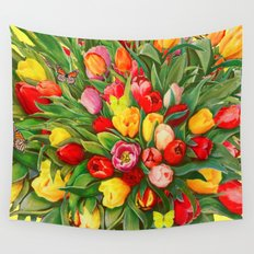 Tulip Bouquet Wall Tapestry