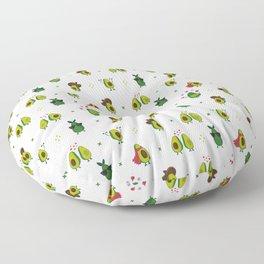 Avocado Pattern - holy guacamole collection Floor Pillow