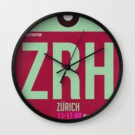 ZRH Zurich Luggage Tag 2 Wall Clock