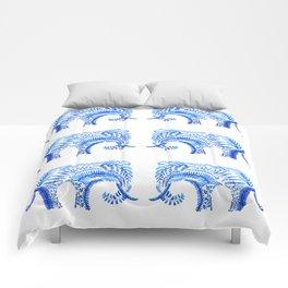 blue elephant watercolor Comforters