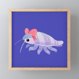 Ribbon giant isopod Framed Mini Art Print