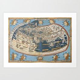 World map 1492 Art Print
