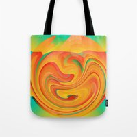 desert Tote Bags featuring Desert by Casey
