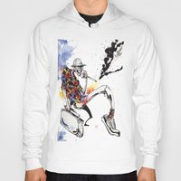 hunter s thompson Hoodies featuring Hunter S Thompson by BINDU by BINDU