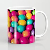 gumball Mugs featuring Rainbow Candy: Gumballs by WhimsyRomance&Fun