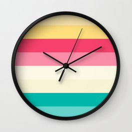 Color palette lines Wall Clock