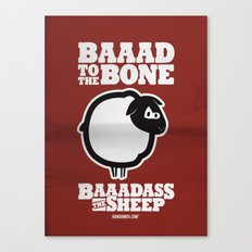 Baaadass the Sheep: Baaad to the Bone Canvas Print