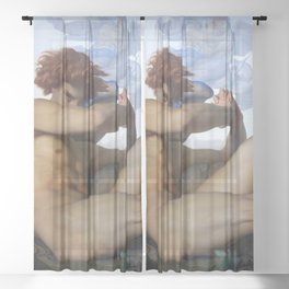 FALLEN ANGEL - ALEXANDRE CABANEL Sheer Curtain
