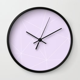 White on Purple Wall Clock