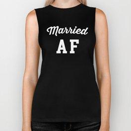 Married AF Funny Quote Biker Tank