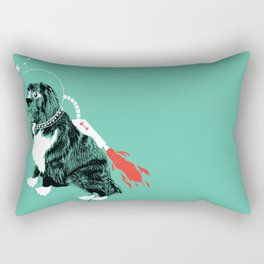 A Flying Dog In Outer Space Rectangular Pillow