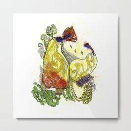 Two Sweet Pears Metal Print