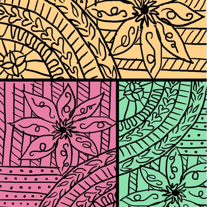 Floreal doodles Comforters