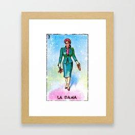 La Dama Mexican Loteria Bingo Card Framed Art Print