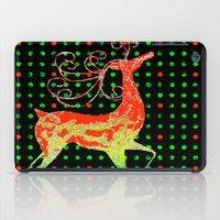 reindeer iPad Cases featuring Reindeer by Saundra Myles