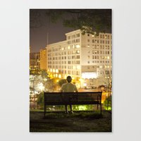 500 days of summer Canvas Prints featuring 500 Days of Summer by Kevin Clark