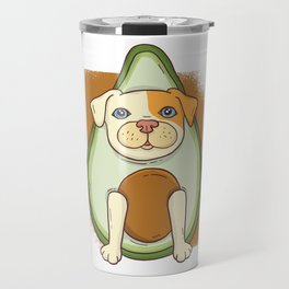 Avocado American Pit Bull Terrier Puppy Dog Travel Mug
