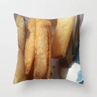 fries Throw Pillows featuring Fries by Wild World Of Food