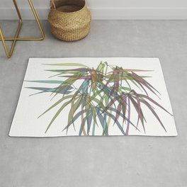 Bamboo Leaves - Multycolor Rug