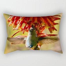 Hummingbird Feeding Rectangular Pillow