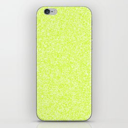 Spacey Melange - White and Fluorescent Yellow iPhone Skin