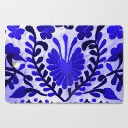 Beautiful Midnight Blue Mexican Flower Cutting Board