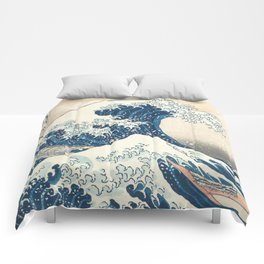 The Great Wave off Kanagawa by Katsushika Hokusai from the series Thirty-six Views of Mount Fuji Comforters