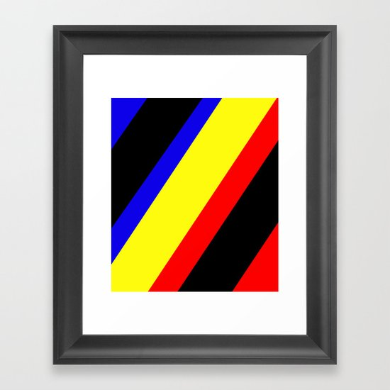 Retro Angled Framed Art Print