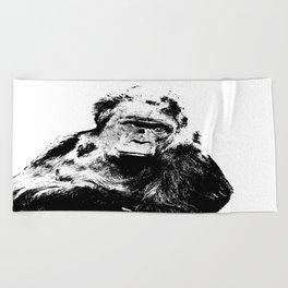 Gorilla In A Pensive Mood Portrait #decor #society6 Beach Towel