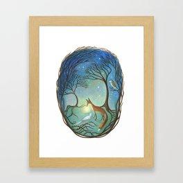 The Light Between Framed Art Print