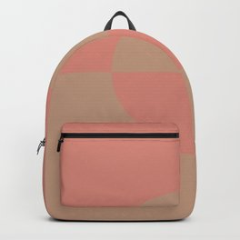 Sand Storm Beige Pastel Pink Circle Design 2 Behr 2021 Color of the Year Canyon Dusk Indian Sunset Backpack