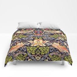 William Morris Strawberry Thief Art Nouveau Painting Comforters