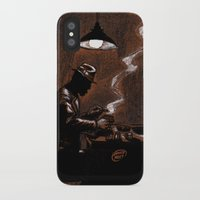 bar iPhone & iPod Cases featuring Noir Bar by David Miley