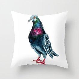 Seymour the pigeon Throw Pillow