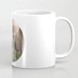 Circle Deer in Forest Coffee Mug