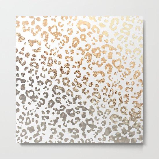 GOLD LEO Metal Print