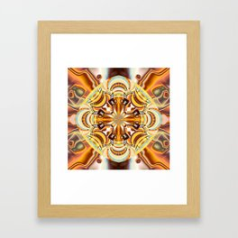 A touch of Autumn, fractal abstract in fall colors Framed Art Print