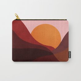 Abstraction_Mountains_SUNSET_Minimalism Carry-All Pouch