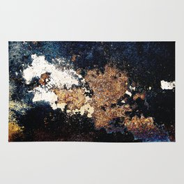 Alien Continents ruined wall texture grunge Rug