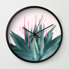 Agave geometrics II - pink Wall Clock