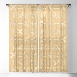 Simple African tribal pattern Sheer Curtain