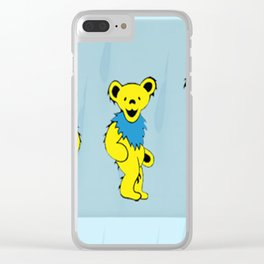Dancing bears in the shower Clear iPhone Case