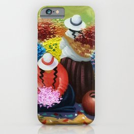 La Paz Altiplano Plateau Flower Sellers floral painting iPhone Case