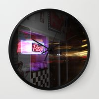pizza Wall Clocks featuring Pizza by livedwards