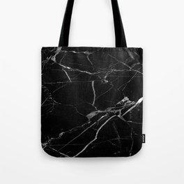 modern black marble look Tote Bag