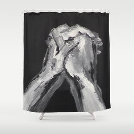 Abstract Prayer by Robert S. Lee Shower Curtain